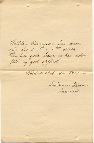 Note about Halfdan 1906