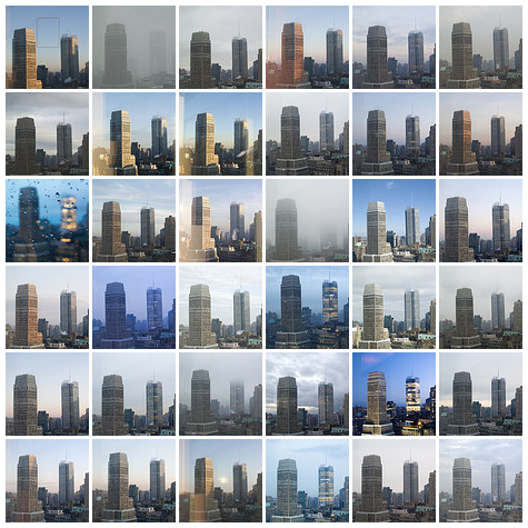 36 Days – Uncropped View of New York City Colour Study: Photos are from between 20 Feb 2008 & 28 Mar 2008.