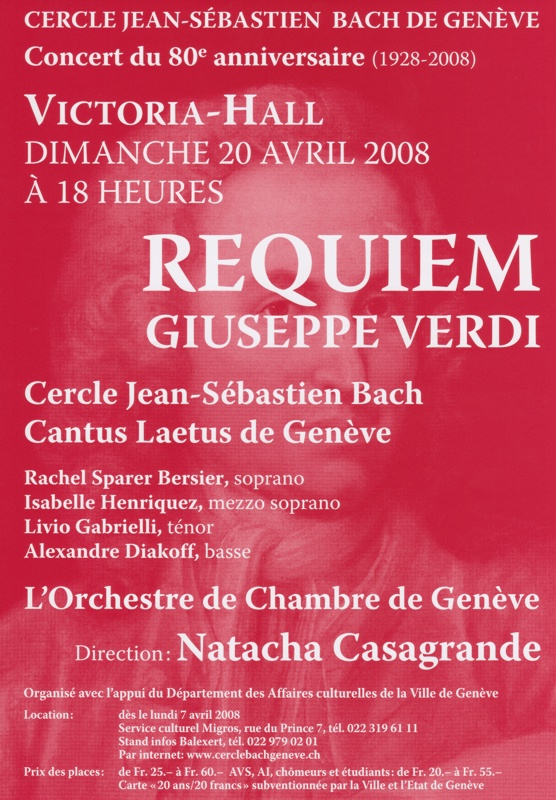 Requiem de Verdi 20 avril