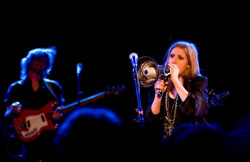 Lykke Li with megaphone