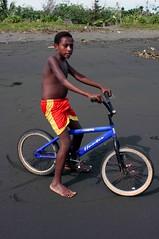 Beneraf cyclist (Mangiwau) Tags: ocean boy sea beach boys bike kids children indonesia bmx cyclist masi biker kampung papua kampong rider anus irja sepeda wakde keder sarmi papouasie yamna kumamba beneraf betaf