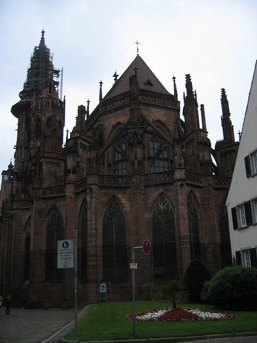 Back end of Freiburg Münster