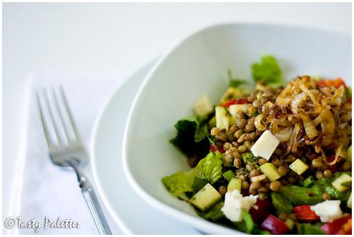 Lentil Fattoush Salad