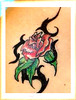 tatuagem flor tribal no ombro TARZIA TATTOO -