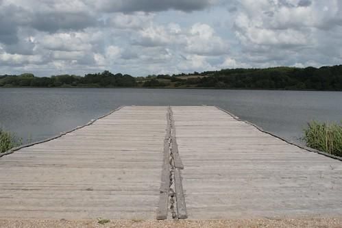Die Landebrücke in dem Hafen von Haithabu - Museumsfreifläche Wikinger Museum Haithabu WHH 15-06-2008