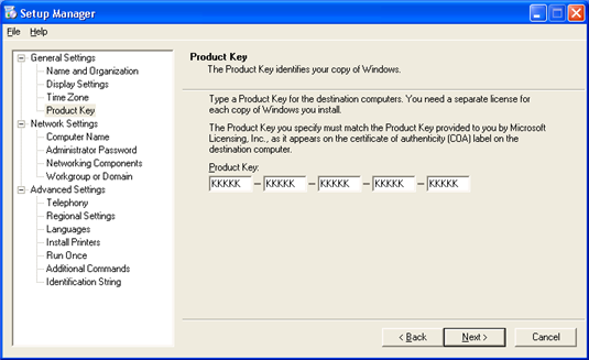 Windows XP Professional SP2 Volume License Key