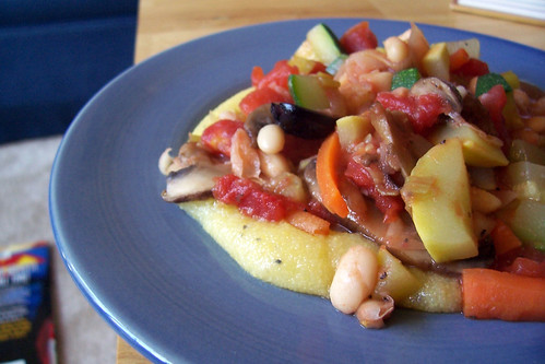 Vegetable Stew with Soft Polenta
