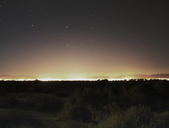 Distant Civilization (marctonysmith) Tags: california city night landscape glow desert olympus explore mojave lancaster antelopevalley photoshop70 lightpollution e510 zd explore131 1442mm manfrotto190xprob dilojun08 gisuggested