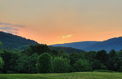 Mountain Sunset (` Toshio ') Tags: sunset summer sky orange mountains green grass clouds perspective maryland layers cumberland westernmaryland mountainrange toshio