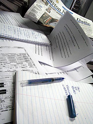 reporter's desk