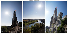 ~~ Welcome to Ardeche ~~ (Julien Ratel ( Jll Jnsson )) Tags: blue sky sun france green castle canon river soleil kayak angle vert canoe sunshade tokina bleu ciel swimmer vegetation chateau eos350d tryptique province tryptich torrent color sunflare bather colourfull rgion 1224f4 ardche blueju38 julienratel julienratelphotography nosrgionsontdutalent