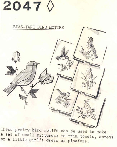 Bias Tape Birds pattern, 1969