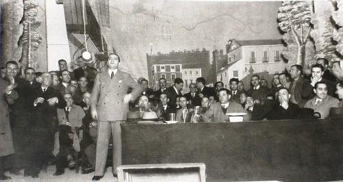 Acto de José Calvo Sotelo en el Teatro de Rojas de Toledo. Fotografía Rodríguez