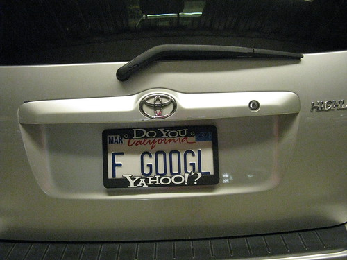 As Seen in the Yahoo! Parking Lot | F GOOGL | Do You Yahoo! [PIC]