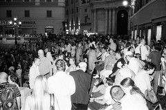 02080029 (lomo76free) Tags: people bw white black rome night crowd trevi di konica af fontana hexar