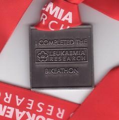 My Bikeathon Medal