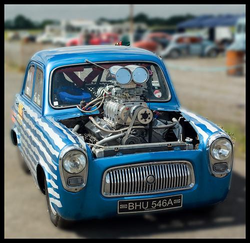 big engine, little car!
