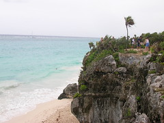 Cliffs at ruins of Tulum