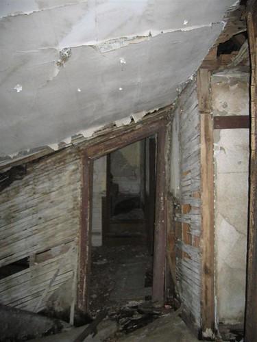 Funhouse doorway on the first floor