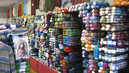 Rae's- Wall of Yarn
