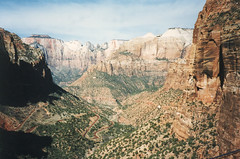 Zion National Park (St. George, Utah) (aimeedars) Tags: mountains nature beauty landscape march nationalpark hiking 1996 hike environment zion soutwest zionnationalpark canyons americansouthwest