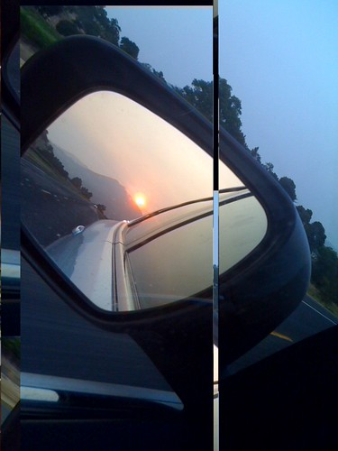 Rearview Napa Sunset