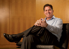 Michael Dell, Founder and CEO of Dell Computers, Charismatic and Visionary. (Source: GigaOM)