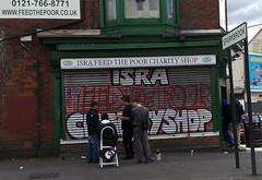 ISRA Feed the Poor (Ukenaut) Tags: mobile shop geotagged graffiti nokia phone poor feed aldi isra sparkbrook n95