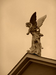 Angel (Sweet.tina91  [Momentaneamente fuori servizio :D ]) Tags: sky church statue sepia angel lumix panasonic chiesa cielo angelo statua sangelo seppia mondragone tz5 panasonictz5 sweettina91