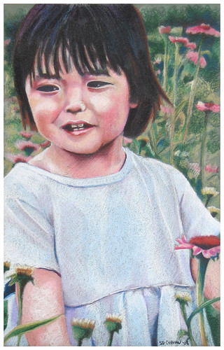 Colored pencil drawing entitled Hope