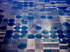 USA CO Irrigation (Menazort) Tags: above color colour art feet plane photo flickr pattern tits squares circles flight manipulation things lo boring human cover fi syntax far levels irrigation intervention adjective noun prepositions fromsky bungholes