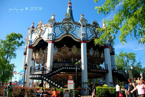 Six Flags Double Decker Carousel