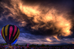 Scrubbed (Thad Roan - Bridgepix) Tags: statepark weather festival night clouds colorado hotair balloon denver explore chatfield hdr littleton photomatix 200808 rockymountainballoonfestival