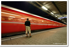 Red Train (Marcel Cavelti) Tags: longexposure red blur night train switzerland nightshot eisenbahn zug chur bahn ghosttrain rhb 10mm rhtische graubnden toniv aplusphoto