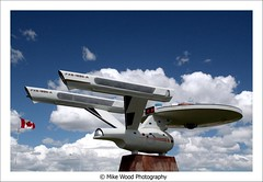 boldly going (Mike Wood Photography) Tags: blue startrek sky canada clouds trek steel alberta arr vulcan canadianflag enterprise heavy allrightsreserved starship mikewood aplusphoto centreoftown mikewoodphotographycom mikewoodphotography enterpriseanacelles
