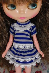 Blue Stripe Dress Set