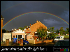 Somewhere Under The Rainbow ! (James Whorriskey (Delbert Jackson)) Tags: uk ireland rainbow londonderry northernireland redbull derry ulster impressionsexpressions aroundus irishlight jameswhorriskey delbertjackson jameswhoriskey maybrookpark