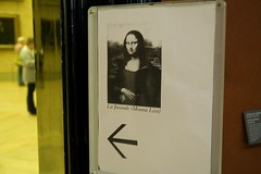 This Way to the Mona Lisa (NYCviaRachel) Tags: paris france sign museum louvre monalisa thelouvre museedulouvre