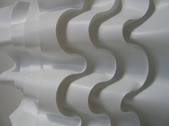curved undulations (polyscene) Tags: shadow sculpture white art geometric plane paper design 3d origami pattern bass low craft surface relief polly folded fold curve curved poly bas score crease robo basrelief curvature verity threedimensional polypropylene onesheet lowrelief bassrelief nocuts developable polyscene pollyverity developablesurface curvedfold 3dpattern foldedcurves