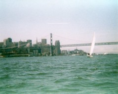 San Francisco skyline (Chris Buck) Tags: bridge chris urban beach island bay san francisco kayaking buck yerba exploration buena