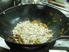 肉絲與豆干一起拌炒1