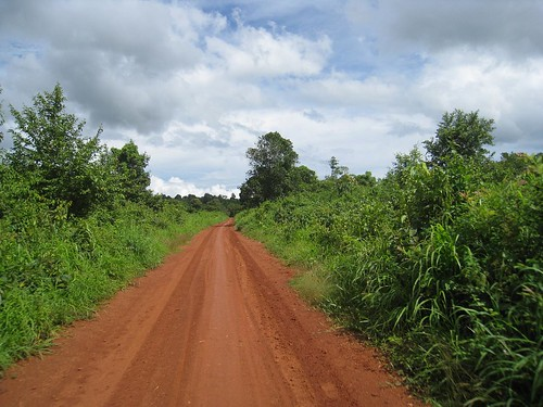 Typical dirt road in the area