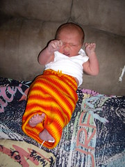 J in knitted soaker sack (mcm_2013) Tags: newborn soaker 2daysold inakid freebirth