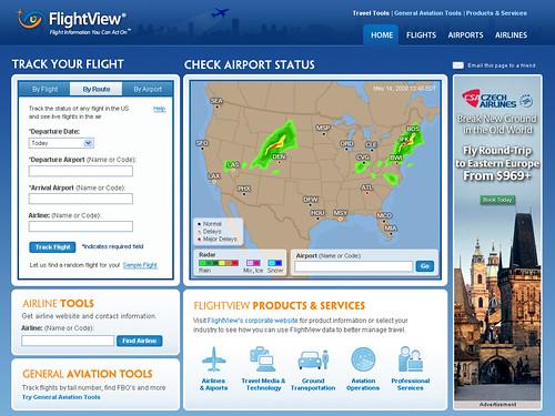 FlightView Homepage