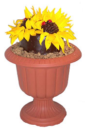 sunflower-cake-urn