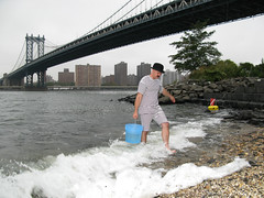 Patrick Visentin, our Canadian Empresario - collecting East River Water