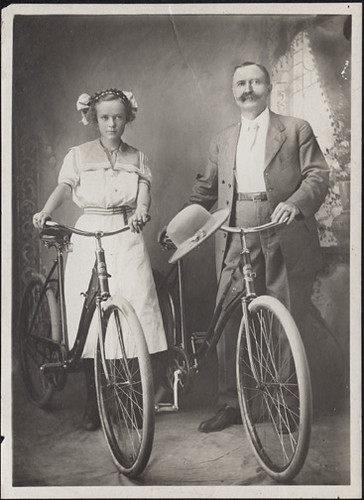 Father and Daughter with Bicycles