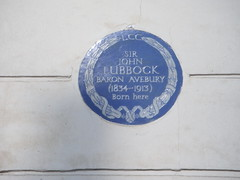 Photo of John Lubbock blue plaque