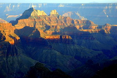 Grand Canyon North Rim Bright Angel Point Sunset (Ray .) Tags: sunset grandcanyon northrim brightangelpoint theperfectphotographer thesouthrimis5milesaway grandcanyonnorthrimbrightangelpointsunset thedistantmountainsare90milesaway