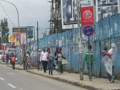 People on Bole Road, Addis Ababa. (Reine